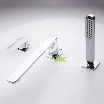 Bateria wannowa 3-otworowa ze słuchawką prysznicową Tres LOFT-TRES 200.162.01