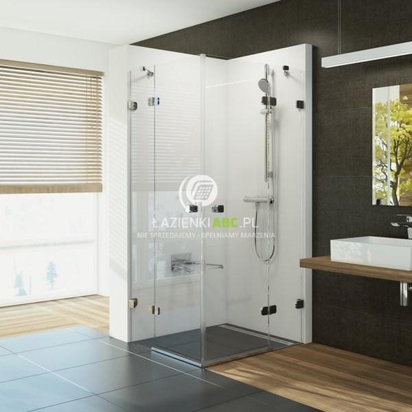 Narożna Kabina Prysznicowa Otwierana Czteroczęściowa 80x195 Ravak Brilliant 1uv44a00z1