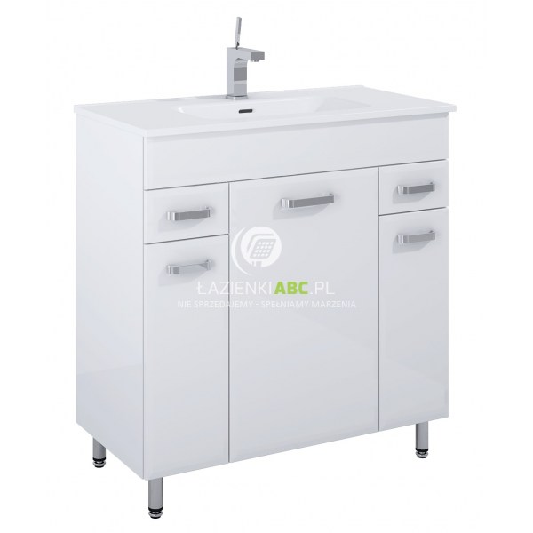 Szafka Z Umywalką 80 Cm Elita Amigo 166467 Biała Lazienkiabcpl