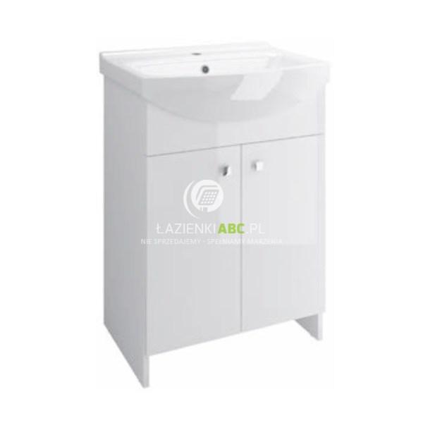 Cersanit SATI szafka łazienkowe z umywalką 60 cm biały połysk S567-006-DSM