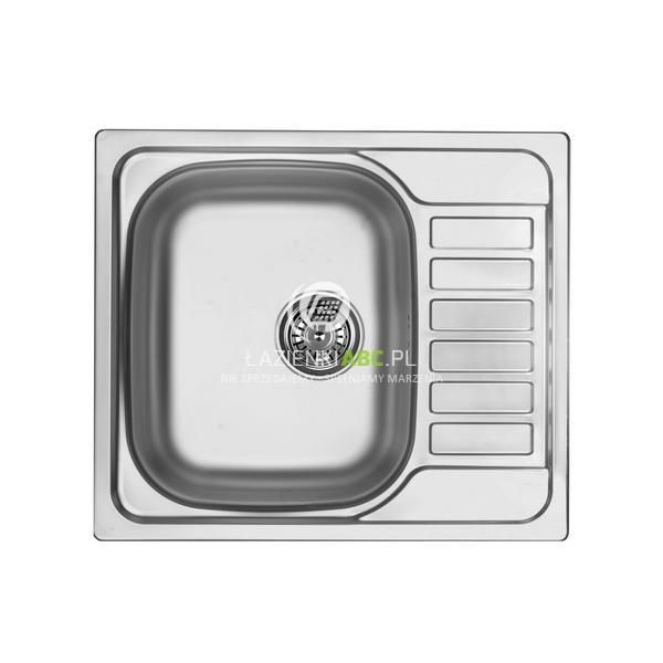 Zlewozmywak Stalowy 1 Komorowy 58x50 Cm Z Krótkim Ociekaczem Deante