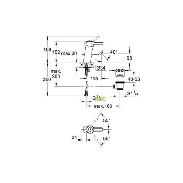 Bateria Umywalkowa Grohe Concetto 32204000 Lazienkiabcpl