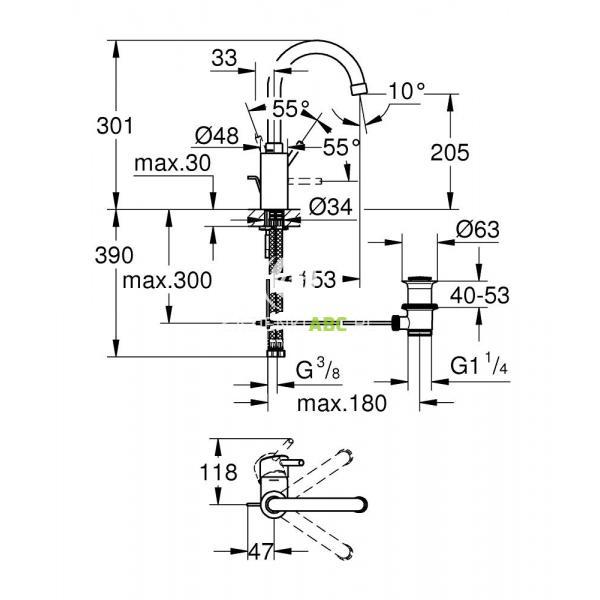 Bateria Umywalkowa Grohe Concetto 32629001 Lazienkiabcpl