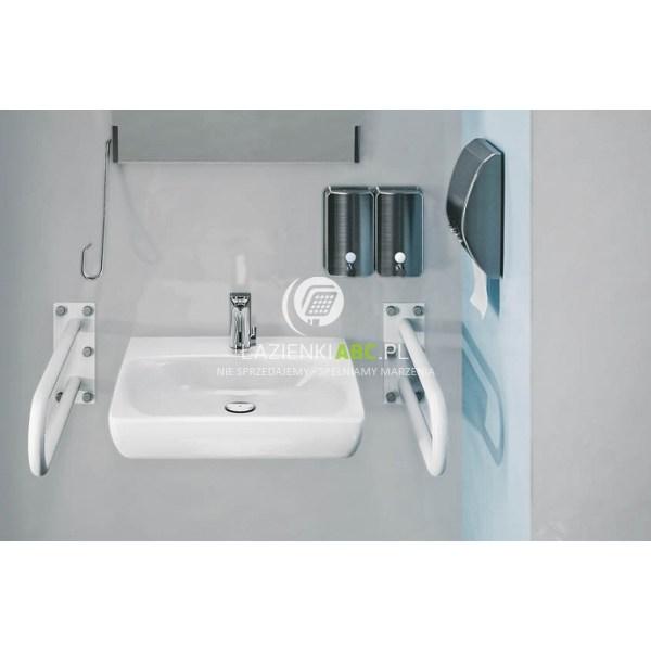 Umywalka Wisząca 65x55 Cm Dla Osób Niepełnosprawnych Z Otworem Bez