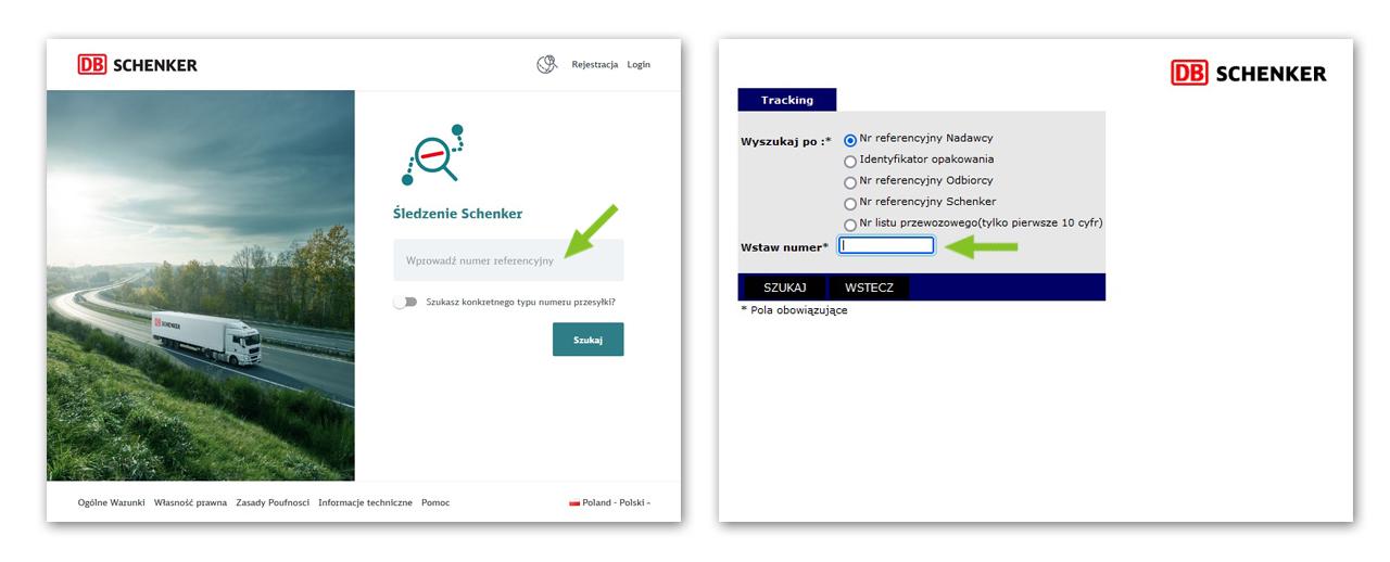 DB Schenker - monitorowanie przesyłek