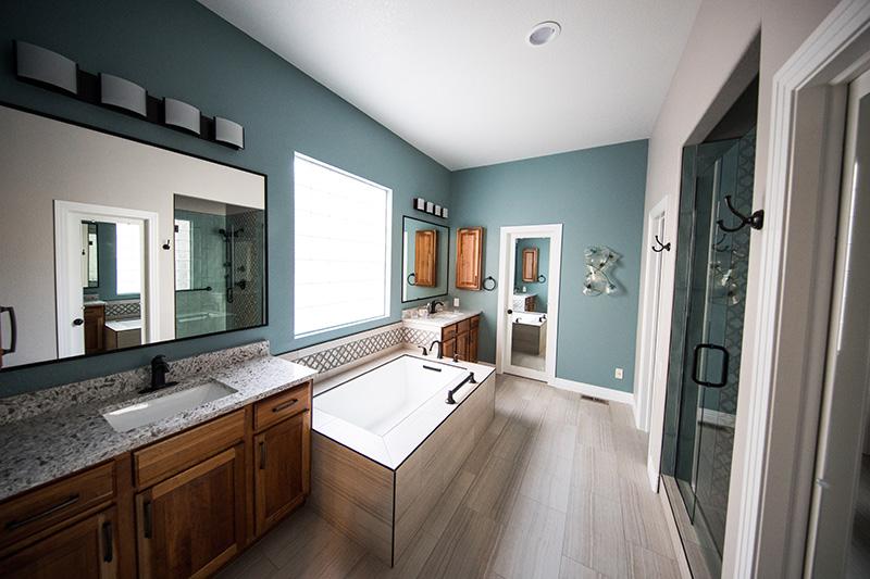 nowoczesna łazienka w domku