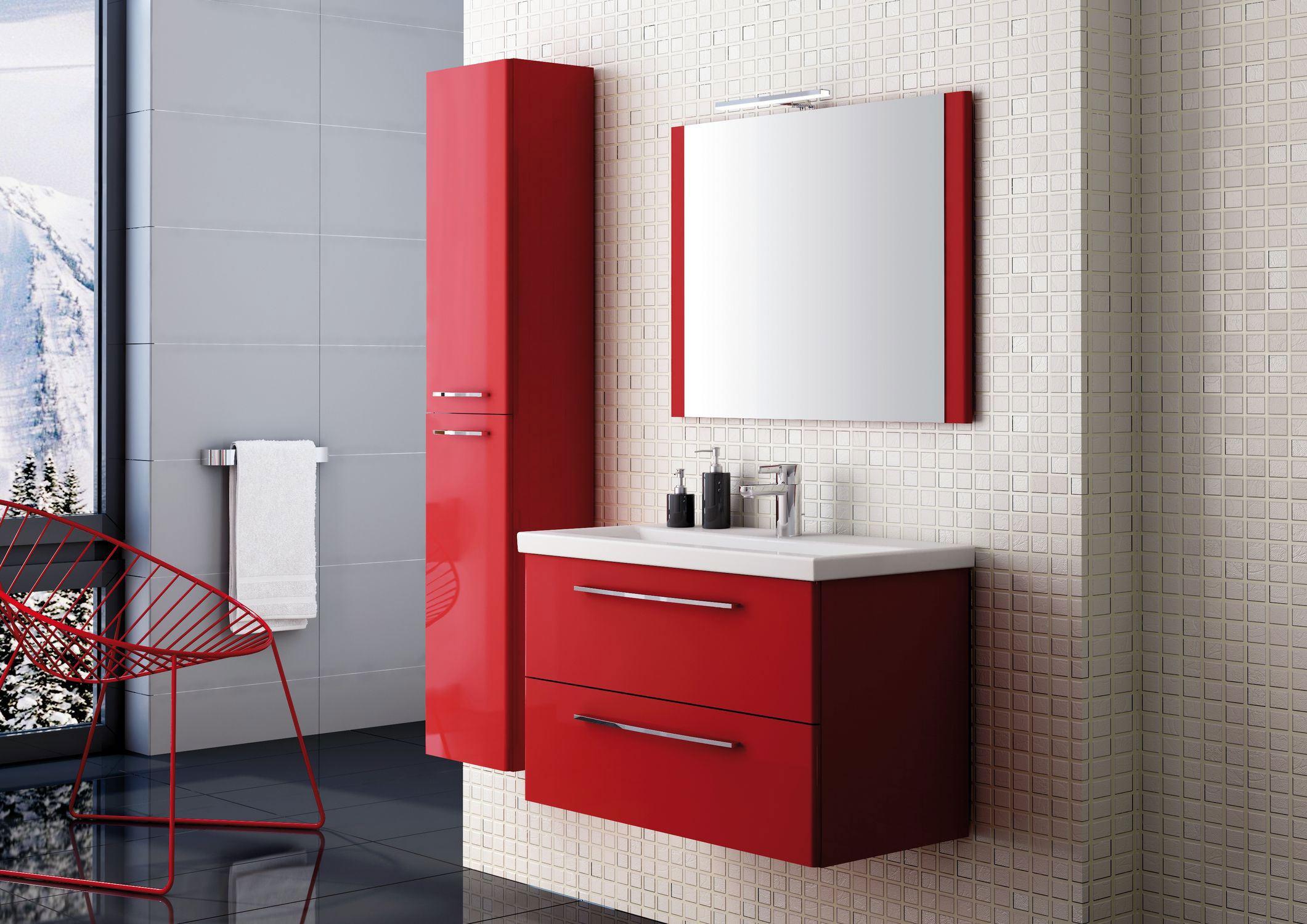 Czerwona łazienka Pomysły Na Aranżacje Lazienkiabcpl