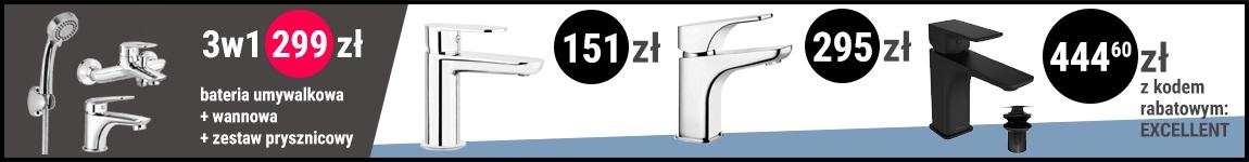 Baterie umywalkowe - Blak Week