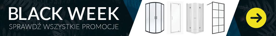 kabiny, drzwi i ścianki prysznicowe do -17% na BLACK WEEK
