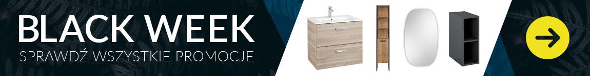 Szafki pod umywalkę, słupki łazienkowe, lustra i szafki wiszące do -17% na BLACK WEEK