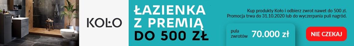 Łazienka z premią do 500 zł - kup produkty Koło i odbierz zwrot pieniędzy.