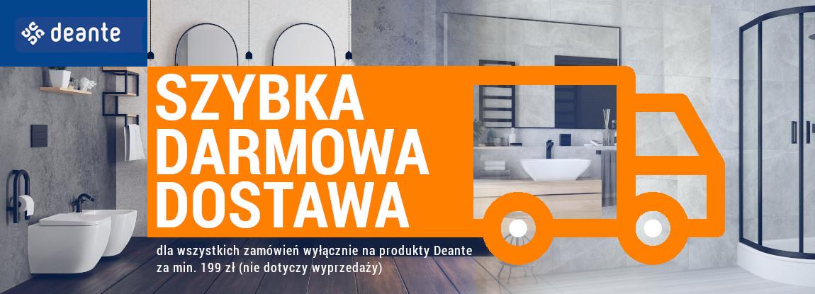 Darmowa dostawa produktów Deante dla zamówień za min. 199 zł