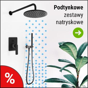 Prysznicowe zestawy podtynkowe z deszczownicą