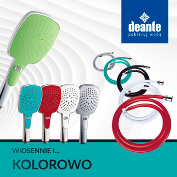 Kolorowa słuchawka prysznicowa