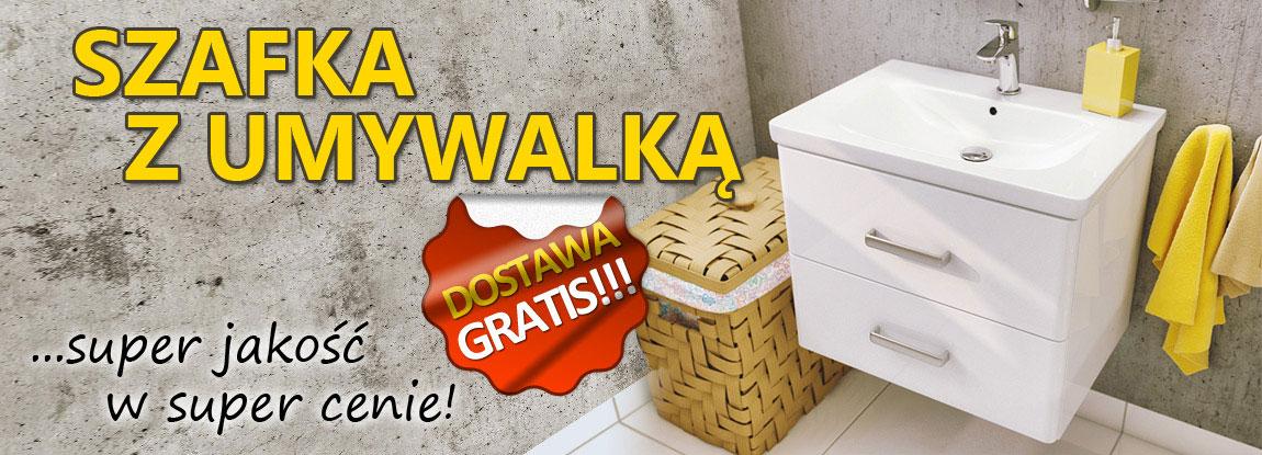 Baner szafka łazienkowa z umywalką ŁazienkiABC.pl