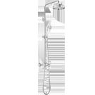 Kolumny prysznicowe retro