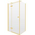 Złote kabiny prysznicowe