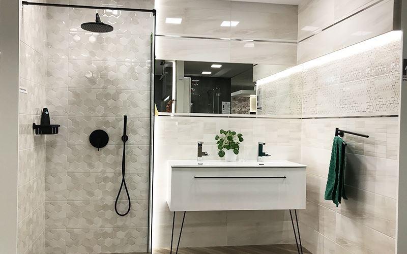 Geometryczne kształty w nowoczesnej łazience!