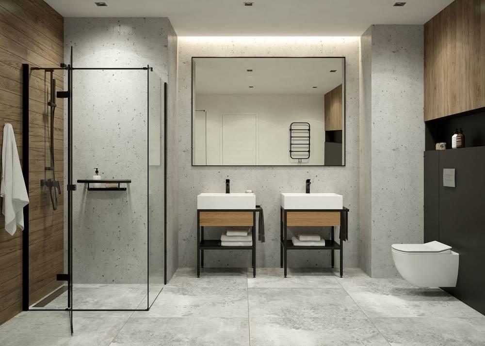 Nowoczesna łazienka bez wanny