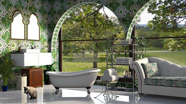 Połączenie zieleni z bielą – inne spojrzenie na aranżację łazienki!