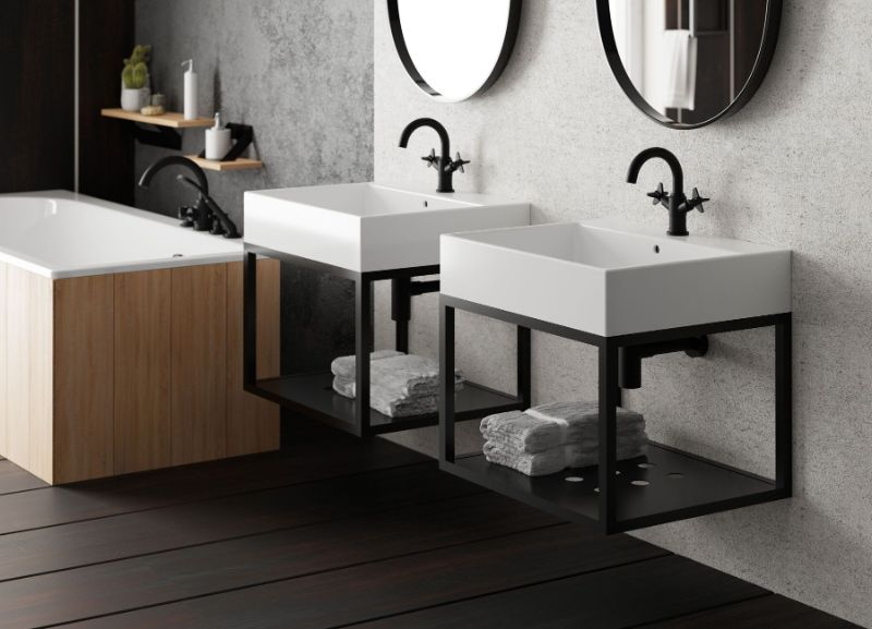 Top 10 produktów dla aranżacji czarnej łazienki!