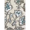 Dekor ścienny 25x36 cm  Tubądzin Domino GRIS FLOWER TURKUS