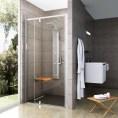 Drzwi prysznicowe 120x190 cm PDOP2 białe+transparent Ravak PIVOT 03GG0100Z1