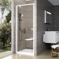 Drzwi prysznicowe 80x190 cm profil aluminium błyszczące szkło transparentne Ravak PIVOT 80x190 cm PDOP1 03G40C00Z1