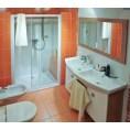 Drzwi prysznicowe 100x190 cm NRDP2 L satyna+transparent Ravak RAPIER 0NNA0U0LZ1