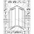 Element ruchomy do kabiny kwadratowej KN-II/EKOPLUS-80-90, szkło hartowane Sanplast EKO PLUS 660-E1210
