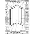 Element ruchomy do kabiny kwadratowej KN-II/EKOPLUS 90 cm, polistyren Sanplast EKO PLUS 660-E1206