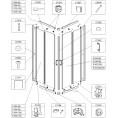 Element ruchomy do kabiny kwadratowej KN/TX5 80 cm, szkło hartowane Sanplast TX 660-E1355