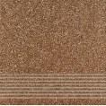 Gres szkliwiony stopień 29,7x29,7 Opoczno MILTON OP069-004-1 brąz