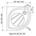Panel Elipso Pro 90 SET Ravak GALAXY PRO XA937001010