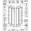 Profil dolny, prawy do kabiny prysznicowej ZDPlus 80 cm Sanplast ZODIAK PLUS 660-C0531