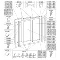 Profil pionowy ramy 140 cm do kabiny nawannowej DTr-c-W Sanplast CLASSIC 660-C0583