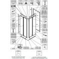 Profil pionowy ściany SS0 i SS1 do kabiny KT/ZDP, KC/ZDP Sanplast ZODIAK PLUS 660-C0636