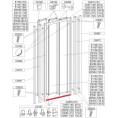 Profil poziomy ramy, dolny do drzwi przesuwnych DTr-c 110 cm Sanplast CLASSIC 660-C0580
