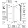 Profil poziomy ramy, górny do kabiny kwadratowej 80 cm Sanplast CLASSIC 660-C0648