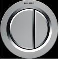 Przycisk uruchamiający meblowy do WC dwudzielny, pneumatyczny, ręczny Geberit TYP 01 116.050.46.1 chrom matowy