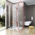 Ścianka prysznicowa PPS-80 biała+transparent Ravak PIVOT 90G40100Z1