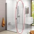 Ścianka stała 90x195 CPS-90 profil polerowane aluminium szkło transparent Ravak CHROME 9QV70C00Z1
