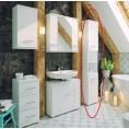 Słupek łazienkowy Deftrans BARI 186-C-03508 dąb sonoma / biały, DSM