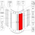 Szyba gięta drzwi do kabiny półokrągłe szkło hartowane Sanplast KP4/TX4 660-S0881