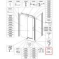 Uszczelka magnetyczna drzwi, KPL Sanplast 660-C1902
