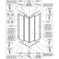 Zaślepka do kabiny kwadratowej KNN-2-d Sanplast CLASSIC 660-C0074