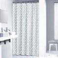 Zasłona prysznicowa tekstylna 180x200 cm Sealskin PIEGA 233591311 szara
