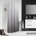 Zasłona prysznicowa tekstylna 180x200 cm Sealskin SPECKLES 233601319 biała / czarna
