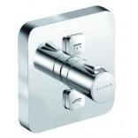 Bateria natryskowa podtynkowa termostatyczna 150 mm kwadratowa, przycisk sterowania dla dwóch źródeł Kludi PUSH 388110538
