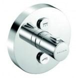 Bateria natryskowa podtynkowa termostatyczna 150 mm okrągła, przycisk sterowania dla dwóch źródeł Kludi PUSH 388120538